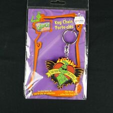The Grinch Stole Christmas Collectible Thick Heart Key Chain New Sealed '99