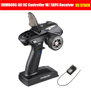 DUMBORC-X6 6CH 2.4G RC Controller Transmitter w/ X6FG Receiver for JJRC Q65 Car