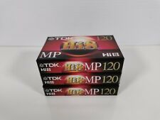 Lot of 3 Tdk Hi 8 8mm Camcorder Videotape Premium Performance Mp120