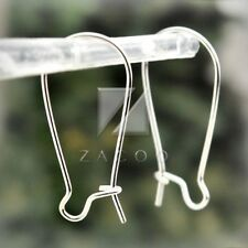 100pcs Kidney Ear Wire Hooks Earring Lever Back Jewelry Finding 25mm Silver