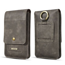 DG. MING Luxury Real Cowhide Leather Belt Clip Holster Pouch Waist Bag Pack