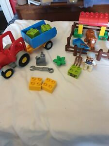 Lego Duplo Farm Tractor (10524) complete with cow & farmer