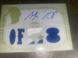 2013 TOPPS TRIPLE THREAD ANTHONY GOSE ROOKIE JERSEY-Auto Printing plate # 1 Of 1
