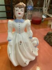 Vintage Florence Ceramics girl with hat. Pasadena California. 6.5�