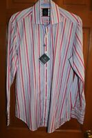TAILORBYRD Cotton Peri Blue Long Sleeve  Shirt NEW With TAGS. Medium. (MOD) NWT