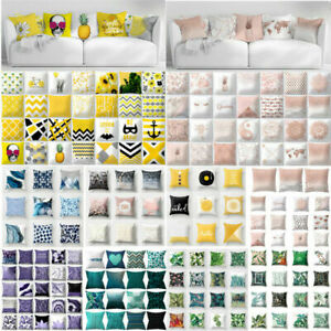 45*45cm Pillow Case Soft Geometric Cushion Cover One Side Print Sofa Home Decor