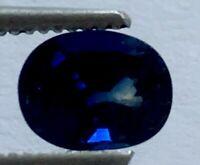Australian Natural Faceted Blue oval Cut 1.10 ct Sapphire 5x7mm