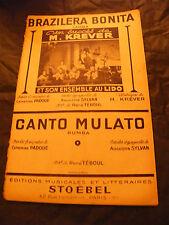 Partition Brazilera Bonita M Krever au Lido Canto Mulato