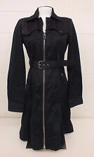 Diesel High-Fashion Trench-Style Full Zip 100% Cotton Coat US Women's Size Large