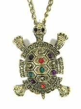 Tortue collier cristal tortue pendentif collier Long animaux bijoux fantaisie