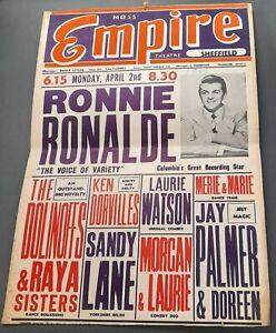 1951 Empire Theatre Sheffield Poster Variety Ronnie Ronalde Jay Palmer Magic