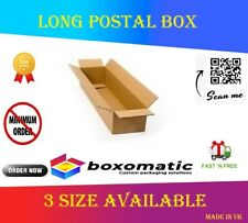 More details for double wall/large cardboard long/tall cartons post boxes