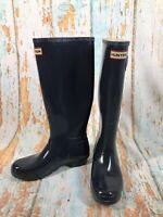 Hunter Women's Original Tall  Rain Boots Rubber Navy Blue/glitter Specs  Size 7