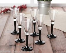 Set di 6 nero elegante ALTO STELO Liquore Shot Sherry Bicchieri da bar 50ml