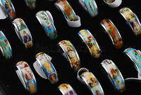 Wholesale Jewelry Lots 10pcs Jesus Men's Fashion Religious Stainless Steel Rings