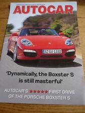 PORSCHE boxster s essai routier brochure JM
