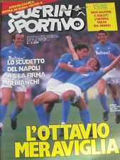 Guerin Sportivo 14 1987 Napoli l'ottava meraviglia  scudetto firmato BIANCHI