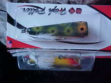 """HIGH ROLLER Wood 2.75"""" TopWater Pop Roller PR275FR for Smallmouth Bass and Spots"""