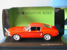 FORD MUSTANG GT 1968 RED SIGNATURE SERIE YATMING 43206 1/43 USA ROUGE ROT ROSSO