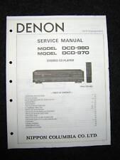 Original Denon DCD-980/970 Service Manual