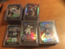 2001 BOWMAN CHROME FOOTBALL ROOKIE REFRACTOR LOT NUMBERED /1999......111 cards