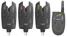 Pro Carp F-3000 Bissanzeigerset 3+1 Funkbissanzeiger im Koffer mit Kombi-LED's