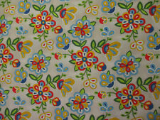 Navajo Native American Beaded Like Floral Colors Sepia Cotton Fabric FQ