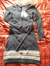 Fat Face Victoria Belted Fairisle Dress navy blue size 10 BNWT RRP £55