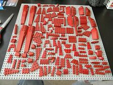Lego - 100 Maroon (Brick Red) Bricks and Plates - New and used mixed