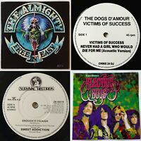 4x rock vinyl joblot The Dogs D'Amour, The Almighty, Electric Boys, glam, 90s