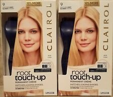 Lot of 2 boxes Clairol root touch-up #9 Matches Light Blonde Shades