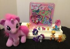 MY LITTLE PONY LOT S W/T GAME, MINIS, EQUESTRIA GIRL, TALKING PLUSH, & FIGURES