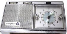 Westinghouse Travel Alarm Clock Transistor Jeweled Radio RLA1080B Pongee