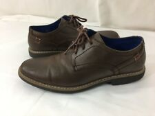 Freeman Mens Size 9 Brown Leather Oxfords Shoes Lace Up