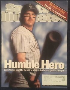 6.11.2001 LARRY WALKER Sports Illustrated COLORADO ROCKIES EXPOS - Hall Of Fame