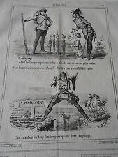 Caricature 1866 Les petits soldats de plomb