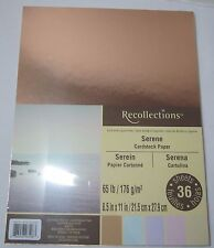 """Recollections Cardstock Paper 8 1/2"""" x 11"""" 36 Sheets 65 lb copper light Serene"""