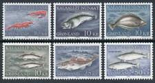 Greenland: 1981 Food Fish (136-141) MNH
