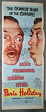 PARIS HOLIDAY original 1958 14x36 movie poster BOB HOPE/FERNANDEL/ANITA EKBERG