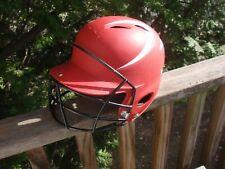 Mizuno Baseball Softball Red And White Batting Helmet 380138 Size Small