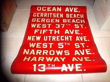 NYC BUS SIGN BROOKLYN NY BMT GERRITSEN BERGEN BEACH OCEAN FIFTH AVE NY ROLL SIGN