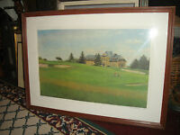 Superb Golf Lithograph By Zenowij Onyshkewych-Ukraine-Signed & Numbered
