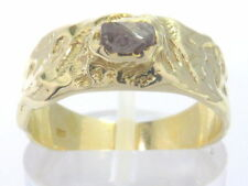 Goldring Ring 585 GOLD 14 Karat Diamant Naturdiamant Rohdiamant diamond oro or