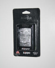 Hard Rock Hotel BILOXI Silver Etched Guitar ZIPPO Lighter - SEALED