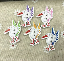 25pcs Wooden Sewing buttons bird-shape Fit Sewing decoration scrapbooking 32mm