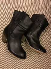 Dorothy Perkins Black Leather Boots Size 3