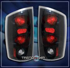 2002-2006 Dodge Ram 1500 2500 3500 Pickup Tail Lights Lamps Black 2003 2004 2005