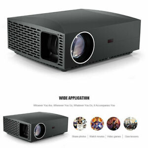"""1080p FULL HD Home Theater LED Projector 4200 Lumen Video projector 4K 300"""" Max"""