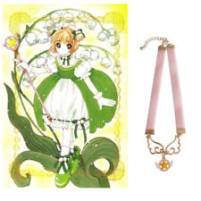 Anime Card Captor Sakura Kinomoto Wings Star Necklace Lolita Pink Choker Cosplay