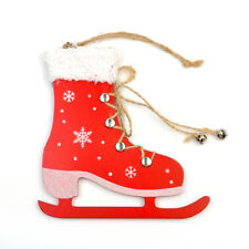 1PC Wood Christmas Tree Hanging Ornament Decoration Boots Ball Snowflake Tags